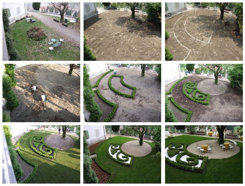 Sistemazione giardino privato te26 pineglen - Progetto per giardino ...